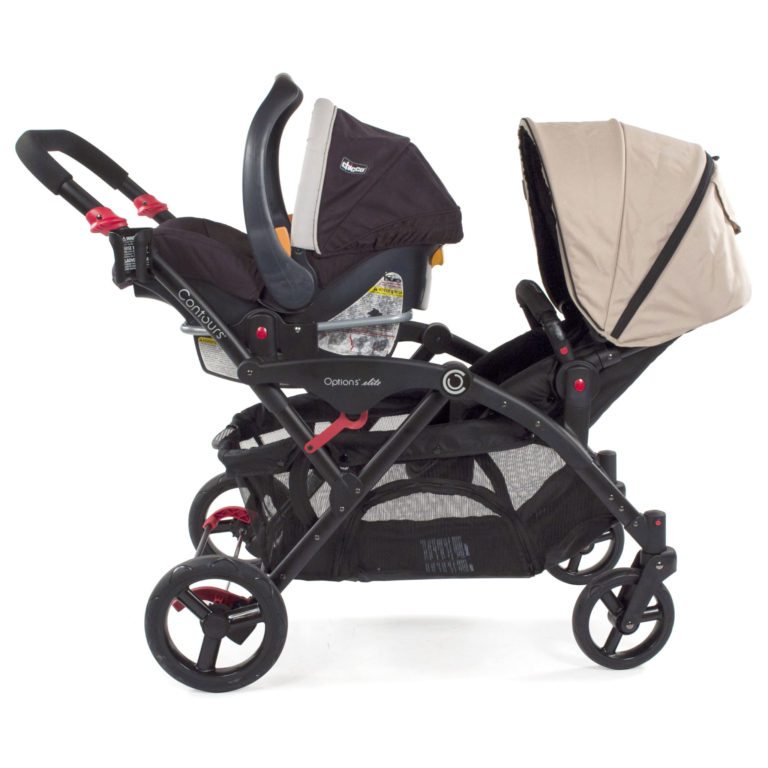 Chicco Car Seat Adapter (Double Strollers) - Black