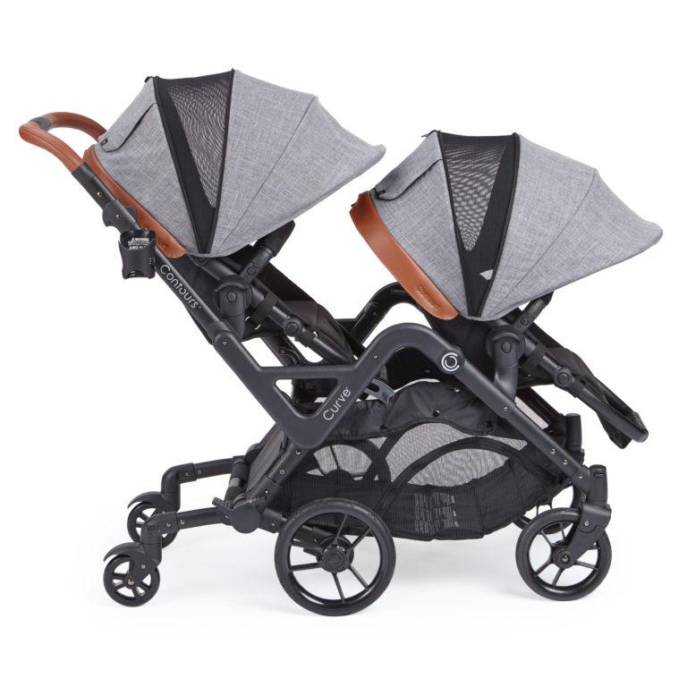 Contours Curve Double Stroller - Graphite Gray