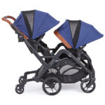 Contours Curve Double Stroller - Indigo Blue