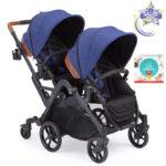 Curve Double Stroller – Indigo Blue - Indigo Blue