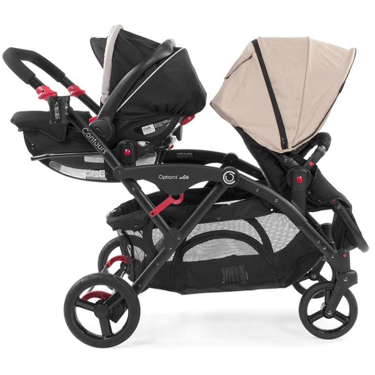Graco Click Connect Car Seat Adapter (Double Strollers) - Black