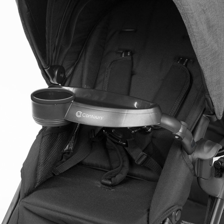 Contours Stroller Child Tray - Black