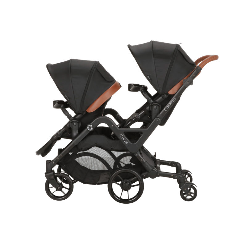 Contours Curve Double Stroller Exclusive Edition - Jet Black