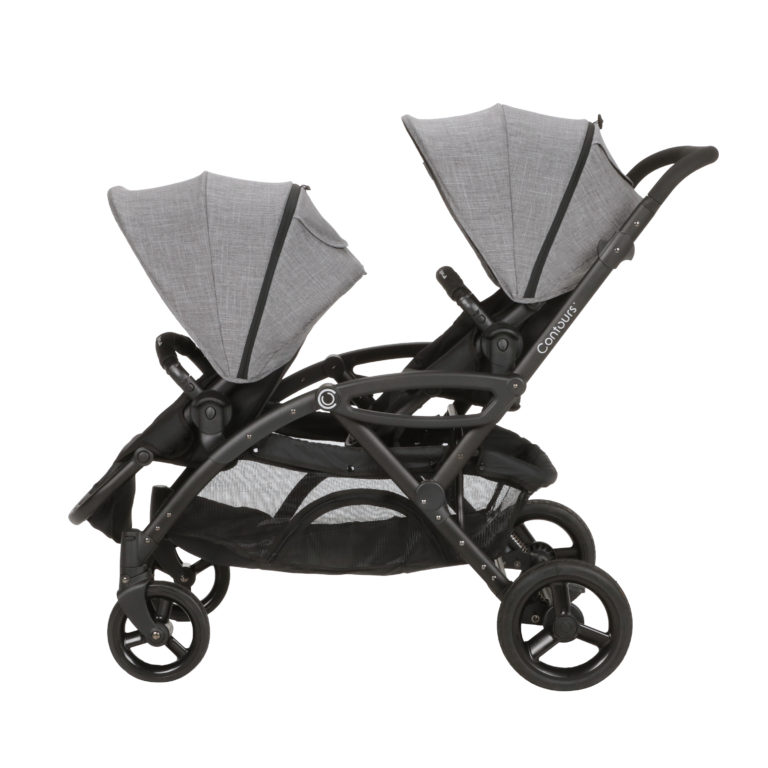 Contours® Options® Elite Double Stroller - Graphite Gray