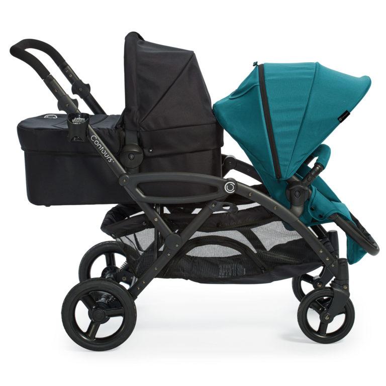Contours Options Elite Tandem Stroller - Aruba Teal