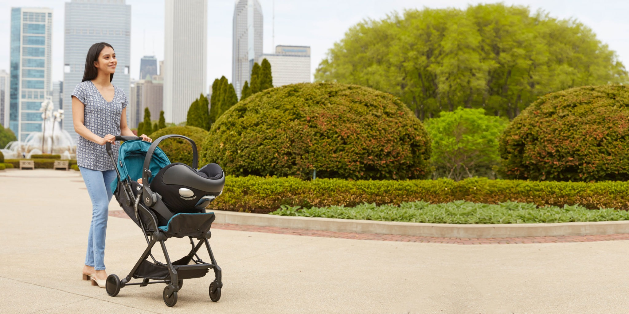 Contours Bitsy Compact Fold Stroller with Car Seat