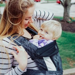 Baby in Woven Wrap Carrier
