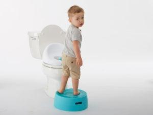 Boy on Contours Potty Step Stool