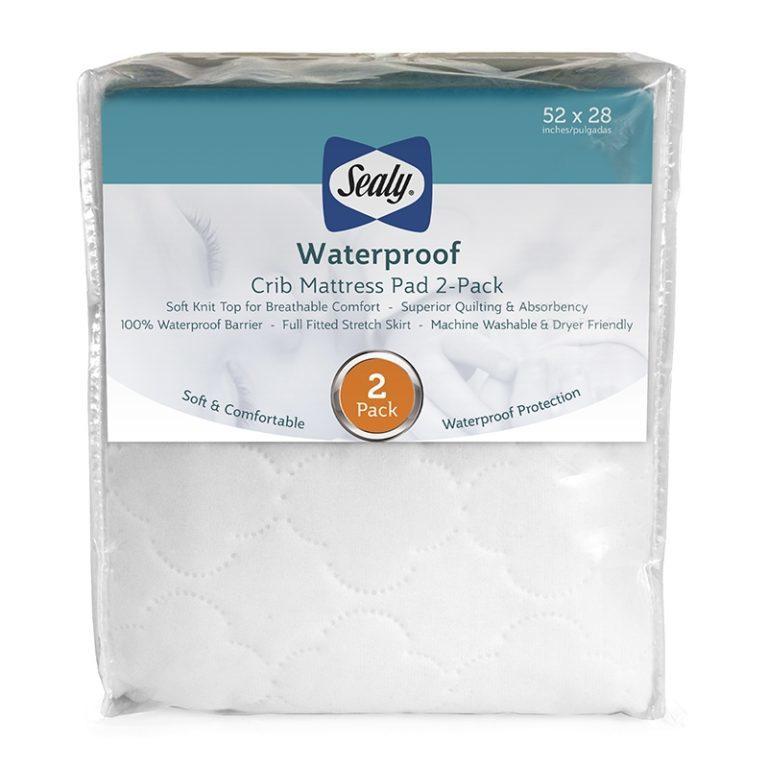 Sealy Waterproof Fitted Crib Mattress Pad