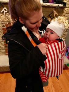 Baby In Popcorn Carrier Costume