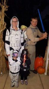 In Star Wars Costumes
