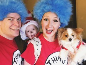 Baby in Costume with Parents