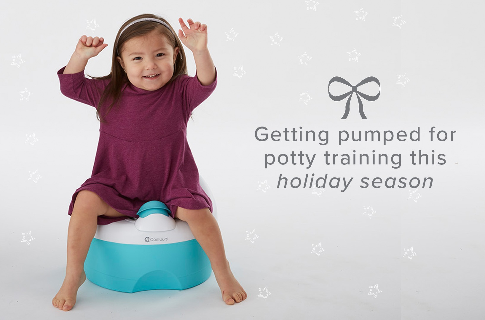 Girl on Contours Potty