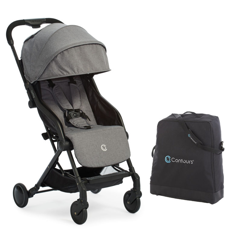 Contours Bitsy Stroller & Bag Bundle - Granite Gray