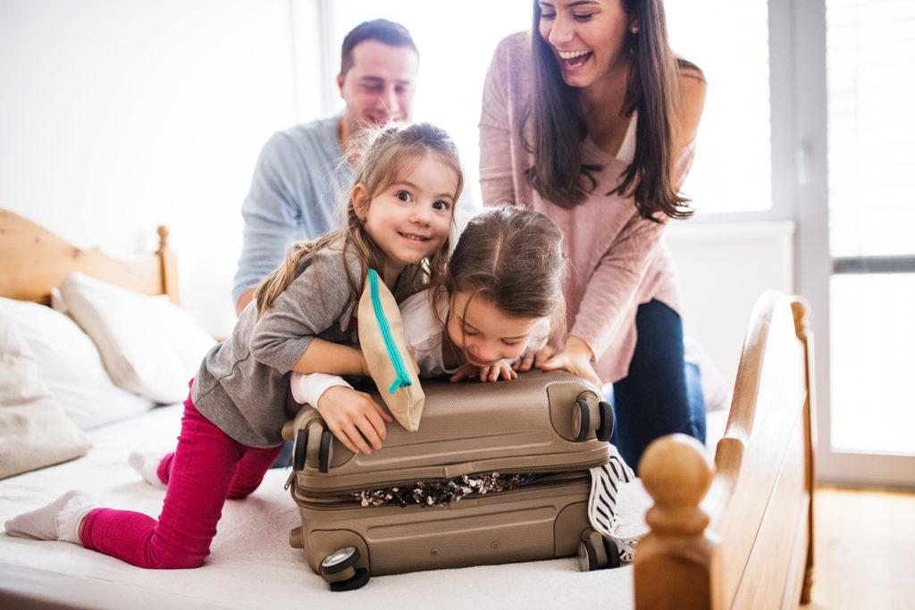 Kids on Suitcase