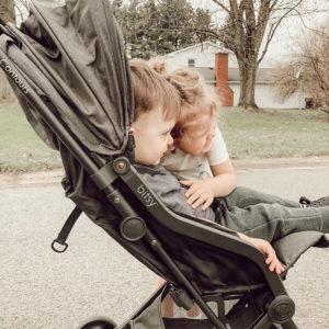 Boy in Bitsy Stroller