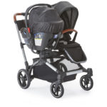 Contours Element Stroller with a car seat and stroller seat mode