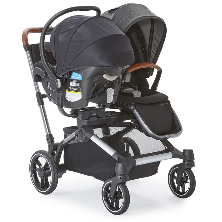 Double Stroller Element Contours Baby, Side By Double Stroller Infant Car Seat