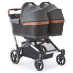 Element stroller with two bassinets attached
