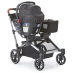 Contours Element stroller with an infant car seat using the Britax Adapter