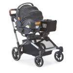 Contours Element Stroller with a car seat attached using the Chicco adapter