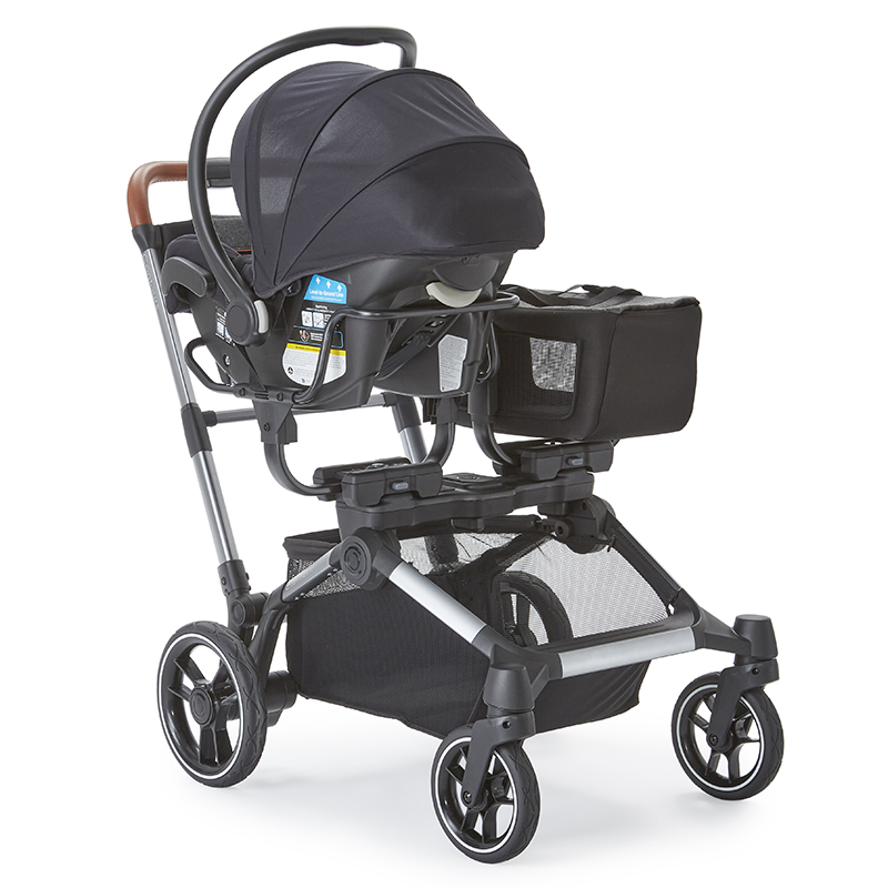 The Element Stroller with car seat using the Universal Infant Car Seat Adapter