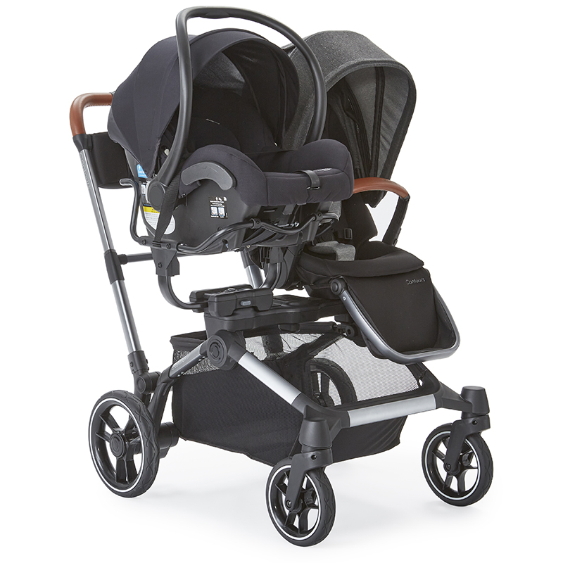 The Element Stroller with stroller seat and car seat car seat using the Universal Infant Car Seat Adapter