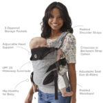Contours Journey 5 Position Baby Carrier - Graphite
