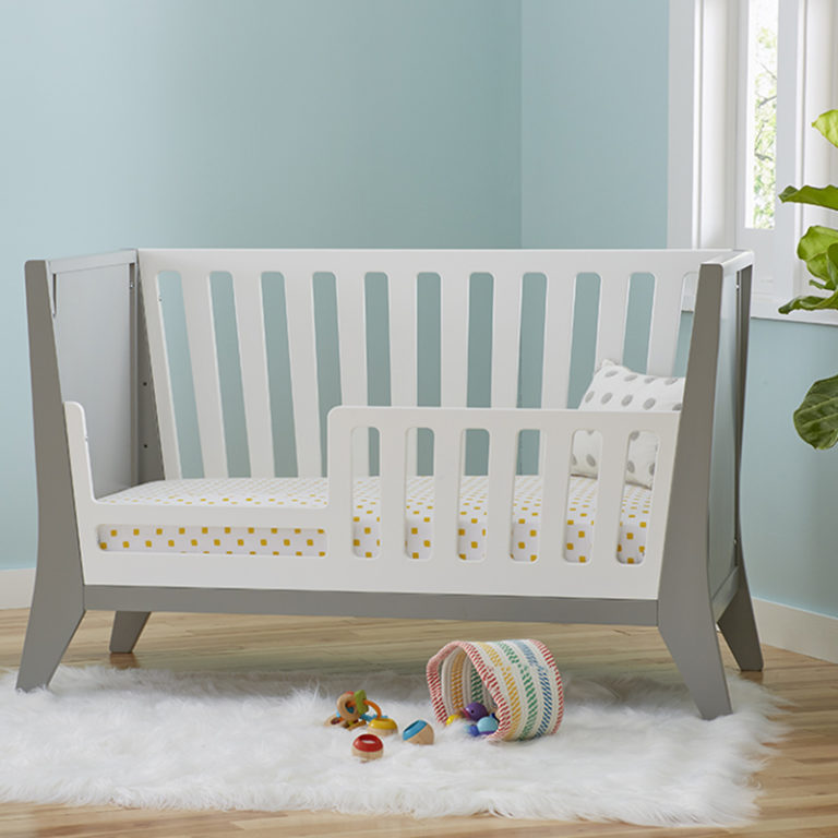 Contours Rockwell 3-in-1 Toddler Bed Conversion Kit - White