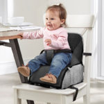 Contours Explore 2 Stage Portable Booster Seat and Diaper Bag - Graphite